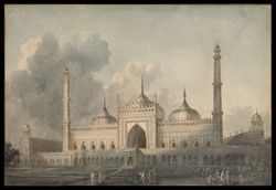 Mosque of the great Imambara of Nawab Asaf-ud-daula, Lucknow (U.P.). Between March and July 1803